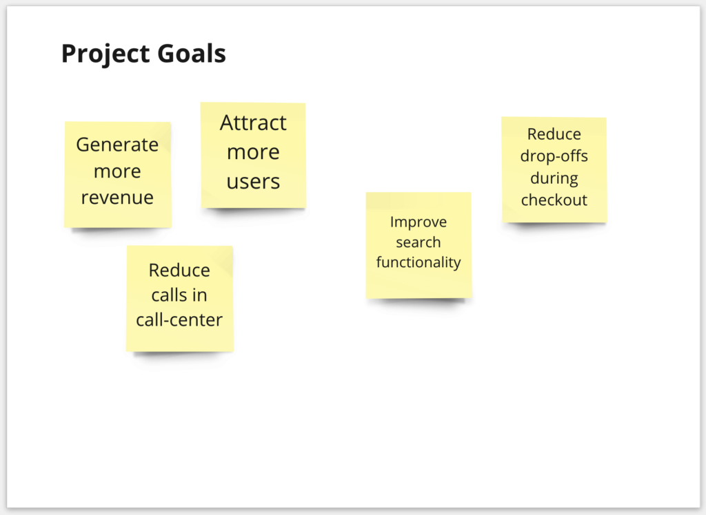 Example for project goals